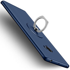 Carcasa Dura Plastico Rigida Mate con Anillo de dedo Soporte para Xiaomi Mi Note 2 Azul