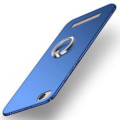 Carcasa Dura Plastico Rigida Mate con Anillo de dedo Soporte para Xiaomi Redmi 5A Azul