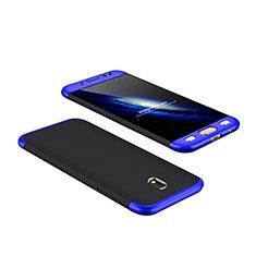 Carcasa Dura Plastico Rigida Mate Frontal y Trasera 360 Grados para Samsung Galaxy J7 Pro Azul y Negro