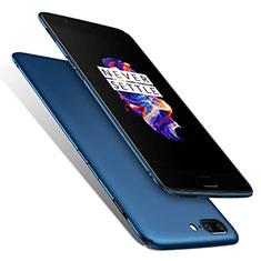 Carcasa Dura Plastico Rigida Mate M01 para OnePlus 5 Azul