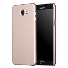 Carcasa Dura Plastico Rigida Mate M01 para Samsung Galaxy A7 (2017) A720F Oro