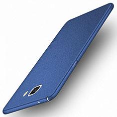 Carcasa Dura Plastico Rigida Mate M01 para Samsung Galaxy A9 Pro (2016) SM-A9100 Azul