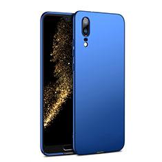 Carcasa Dura Plastico Rigida Mate M02 para Huawei P20 Azul