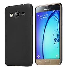 Carcasa Dura Plastico Rigida Mate M02 para Samsung Galaxy J3 (2016) J320F J3109 Negro