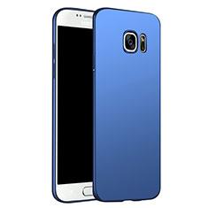 Carcasa Dura Plastico Rigida Mate M02 para Samsung Galaxy S6 Duos SM-G920F G9200 Azul