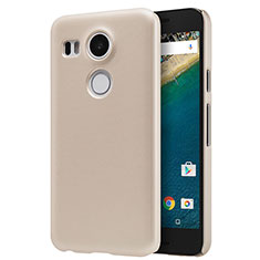 Carcasa Dura Plastico Rigida Mate P01 para Google Nexus 5X Oro