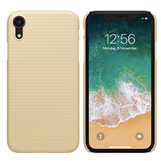 Carcasa Dura Plastico Rigida Mate para Apple iPhone XR Oro