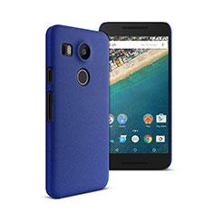 Carcasa Dura Plastico Rigida Mate para Google Nexus 5X Azul