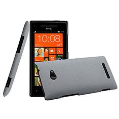 Carcasa Dura Plastico Rigida Mate para HTC 8X Windows Phone Gris