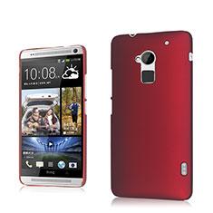 Carcasa Dura Plastico Rigida Mate para HTC One Max Rojo