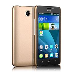Carcasa Dura Plastico Rigida Mate para Huawei Ascend Y635 Oro