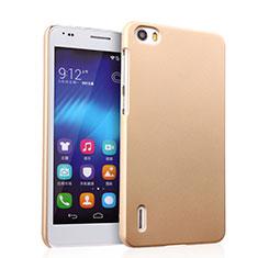 Carcasa Dura Plastico Rigida Mate para Huawei Honor 6 Oro