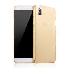 Carcasa Dura Plastico Rigida Mate para Huawei Honor 7i shot X Oro