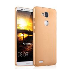 Carcasa Dura Plastico Rigida Mate para Huawei Mate 7 Oro