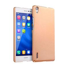 Carcasa Dura Plastico Rigida Mate para Huawei P7 Dual SIM Oro