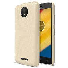 Carcasa Dura Plastico Rigida Mate para Motorola Moto C Plus Oro