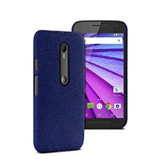 Carcasa Dura Plastico Rigida Mate para Motorola Moto G (3rd Gen) Azul