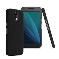 Carcasa Dura Plastico Rigida Mate para Motorola Moto G4 Plus Negro