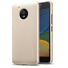 Carcasa Dura Plastico Rigida Mate para Motorola Moto G5 Oro