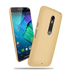 Carcasa Dura Plastico Rigida Mate para Motorola Moto X Style Oro