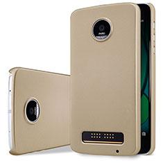 Carcasa Dura Plastico Rigida Mate para Motorola Moto Z Play Oro