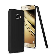 Carcasa Dura Plastico Rigida Mate para Samsung Galaxy C7 SM-C7000 Negro