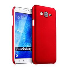 Carcasa Dura Plastico Rigida Mate para Samsung Galaxy J5 SM-J500F Rojo