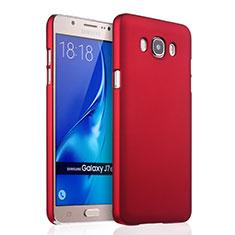 Carcasa Dura Plastico Rigida Mate para Samsung Galaxy J7 (2016) J710F J710FN Rojo