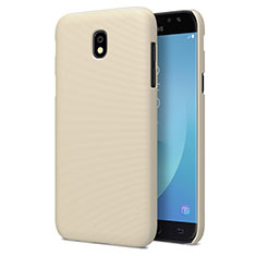 Carcasa Dura Plastico Rigida Mate para Samsung Galaxy J7 Pro Oro