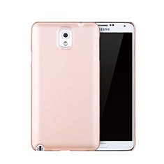 Carcasa Dura Plastico Rigida Mate para Samsung Galaxy Note 3 N9000 Oro Rosa