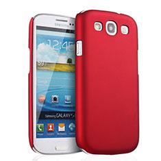 Carcasa Dura Plastico Rigida Mate para Samsung Galaxy S3 i9300 Rojo