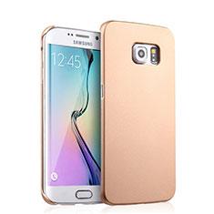 Carcasa Dura Plastico Rigida Mate para Samsung Galaxy S6 Edge SM-G925 Oro