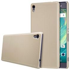 Carcasa Dura Plastico Rigida Mate para Sony Xperia XA Ultra Oro