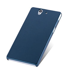 Carcasa Dura Plastico Rigida Mate para Sony Xperia Z L36h Azul