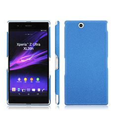 Carcasa Dura Plastico Rigida Mate para Sony Xperia Z Ultra XL39h Azul