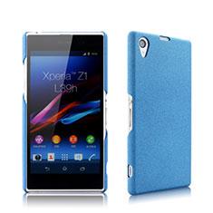 Carcasa Dura Plastico Rigida Mate para Sony Xperia Z1 L39h Azul