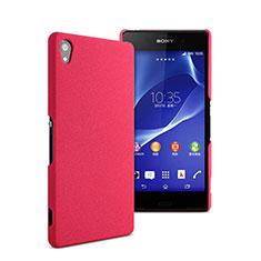 Carcasa Dura Plastico Rigida Mate para Sony Xperia Z2 Rosa Roja