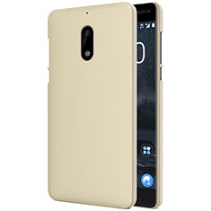 Carcasa Dura Plastico Rigida Mate R01 para Nokia 6 Oro