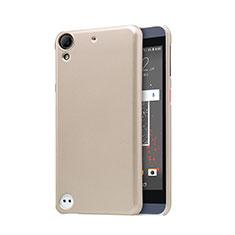 Carcasa Dura Plastico Rigida Perforada para HTC Desire 530 Oro