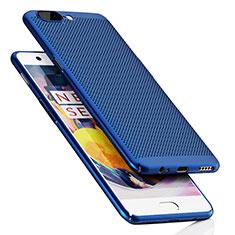 Carcasa Dura Plastico Rigida Perforada para OnePlus 5 Azul