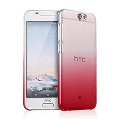 Carcasa Dura Plastico Rigida Transparente Gradient para HTC One A9 Rojo