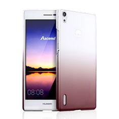Carcasa Dura Plastico Rigida Transparente Gradient para Huawei Ascend P7 Marron