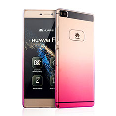 Carcasa Dura Plastico Rigida Transparente Gradient para Huawei P8 Rosa