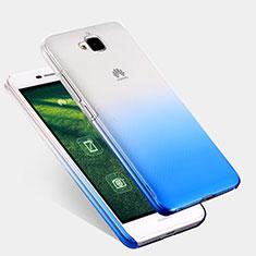 Carcasa Dura Plastico Rigida Transparente Gradient para Huawei Y6 Pro Azul