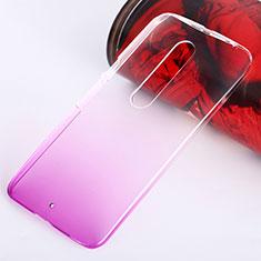 Carcasa Dura Plastico Rigida Transparente Gradient para Motorola Moto X Style Rosa