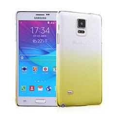 Carcasa Dura Plastico Rigida Transparente Gradient para Samsung Galaxy Note 4 SM-N910F Amarillo