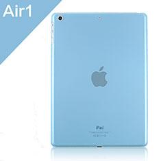 Carcasa Dura Ultrafina Transparente Mate para Apple iPad Air Azul Cielo