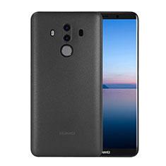 Carcasa Dura Ultrafina Transparente Mate para Huawei Mate 10 Pro Negro