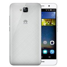 Carcasa Dura Ultrafina Transparente Mate para Huawei Y6 Pro Gris