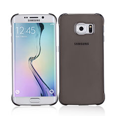 Carcasa Dura Ultrafina Transparente Mate para Samsung Galaxy S6 Edge SM-G925 Gris
